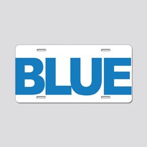 Child-Abuse-THINK-Blue-blk Aluminum License Plate